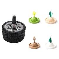 PCS Clean Press Tire Type Winddichte Rotation Aschenbecher 4 Pinienkactus Drain Rack Weinglas Küchenlagerorganisation