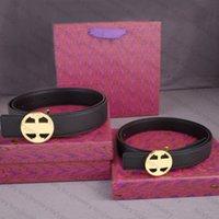 Cinturón de diseñador reversible Cinturones de hebilla de oro para mujer para hombre Ancho genuino de cuero de vaca 3.5cm2.5cm 10 Color de la mejor calidad