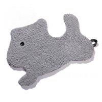 Carpets NiceRug Microfiber Cute Cartoon Animal Dog Footcloth Non-Slip Easy-washing Rugs Door Floor Mat For Bedroom Living Room