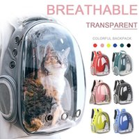 Cat Carriers,Crates & Houses Carrier Bag Breathable Transparent Puppy Backpack Cats Box Cage Small Dog Pet Travel Handbag Space