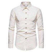 Мужские повседневные рубашки Mattswag 2021 Осенние хлопчатобумажные белья белая рубашка мужчины с длинным рукавом твердой тонкой кнопки офис бизнес-платье Camisas
