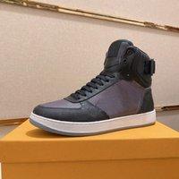 Rivoli High Top Shoe Trainer Lace Up White Calfskin Luxurys Designer Sneaker Runner Vintage Leder Run Wegläufe Freizeitschuhe