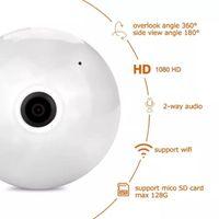 Cameras Bulb Lamp Wifi IP Camera Fisheye 360 Degree Panoramic LED Light 1080P Wireless CCTV AP Spot Samrt Home Security