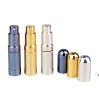 Bullet Toplu Parfüm Şişe Sprey Alüminyum Tüp Boş Şişeler Parti Malzemeleri Kozmetik Taşınabilir Mini Cam Liner 6 ml Deniz EWC7536