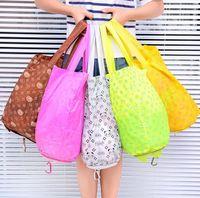 Storage Bags 3pc Travel Organizer Set Cartoon Hand Reusable Folding Bag Supermarket Tote Shopping