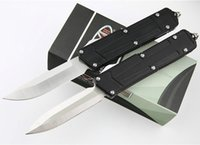 High End MT AUTO Tactical Knife D2 Satin Blade 6061-T6 Handle Outdoor EDC Pocket Gift Knives With Retail Box