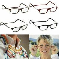 5 ألوان نظارات القراءة المغناطيسية شنقا الرقبة المفاجئة انقر فوق الرجال النساء للطي +1.0 إلى +4.0 CPA4097