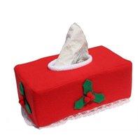 Caixas de Tecido Guardanapos Vermelho Caixa de Natal Cobertura Conjunto de Restaurante Bar Bombeando Temas de Tecido Caso Container LID Decoração