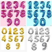32inch Folie Geburtstag Ballone Gold Silber Blau Nummer 0-9 Heliumballons Helium Ballons Alles Gute zum Geburtstag Hochzeitsdekoration Kinder Spielzeug Globos GWA5307