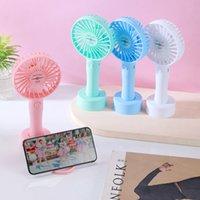 Summer Handheld Mini Fan USB Gadgets Cartoon Portable Charging Desktop Children's Dormitory Office Small Fans Cute