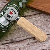 Bottiglia di manico in legno Apristitore di birra portatile Bar Cucina Party Tools Wines Bottles Wine Tumbler Opener 1000pcs