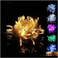 Süslemeleri 10 m LED Dize 100 Işıklar Noel Dekorasyon Işık 110 V Yıldızlı Parti Düğün Festivali Küçük Lantern XD22200 X7WZO FBNKU