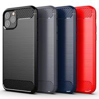 Carbon Fiber phone Cases for iPhone 12 11 Pro Max XR XS X 8 7 Plus Fusion Soft