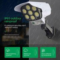 3 Modes 77LED Cob Solar Lamps White Outdoor Lighting IP65 Waterproof Portable Street Wall Lamp PIR Motion Sensor Fake Camera Yard Lead LED Lights for Garden Decor