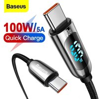 Baseus 100W USB Type C To USBC PD Cable For Xiaomi Samsung Fast Charger USB C Cable For Macbook iPad Pro Tablet Laptop Wire Cord