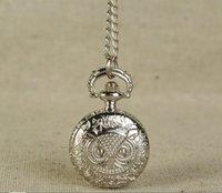 الفضة البوق البومة الجيب ووتش لطيف مصغرة شخصية الجيب ووتش الفضة البوق خمر الجيب ووتش 6121