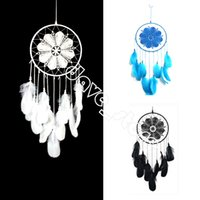 Goose Feather Lace Fashion Crafts Snowflake Dream Catcher Home living room Furnishing Feathers Tassel Pendant Christmas Decoration