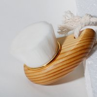 Wood Handle Facial Cleansing Brush Manual Soft Face Massager Skin Pore Clean Care Brushes Beauty Tools