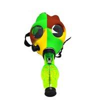 FDA silicone máscaras de gás de água tabaco tubos de cachorro shisha tubo de água colorido tubo de água silicone máscaras acrílico bongo fda silicone gás máscaras água b