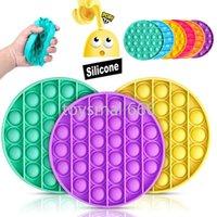 1 pc Anti-Stress Fidget Brinquedos Reliver Reliver Stress Push Bubble Sensory Toy Autism precisa Rodada Squishy Reliever Adulto Criança Presente