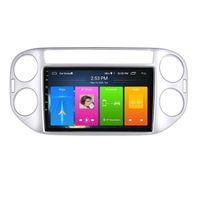 Auto-DVD-Video-Player-Head-Einheit Android 10 Multimedia für VW Tiguan 2010-2018 GPS-Navigationssystem mit WIFI BT SD USB MirrorLink Support SWC