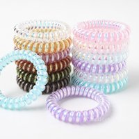 Lady Hair Accessories Laser Glitter Telephone Wire Band Mermaid Ponytail Holder Girls Elastic Phone Cord Line Tie T2I52839