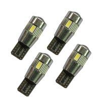 Nödljus 50st T10 W5W 194 5630 LED-lastlampor 6 SMD HID CANBUS Felfri Side Wedge Light Ceiling Lamp License Plate