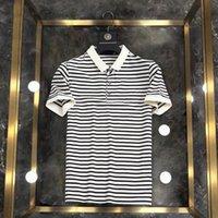 Summer Hommes Striped Designer T-shirt T-shirt Polo Chemises respirantes pour homme Striptes 4 Styles Polos à manches courtes avec taille M-3XL