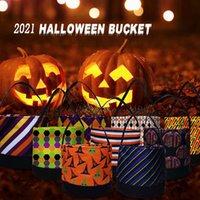 Halloween Candy Secchio Partito favorisce borse tela festival regalo wrap cartoon zucca borse per bambini caramelle borse rra4349
