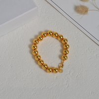 Bracelet T family Gold Beads copper plated 18K real gold star same t family same Bracelet