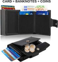 Wallets Semorid 2021 Rfid Men Money Mini Tas Man Aluminium Cardholder Small Leather Dunne And Light 0728