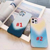 Yeni Sulu Boya Lüks Tasarımcı Kılıfları iPhone 13Promax için 12promax 11 XR XS Max 7/8 Artı Büyük V PU Deri Telefon Kapak Kılıfı