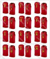 Mens Trae Young 11 John Collins 20 Bianco 4 Morris 3 Lin 7 Personalizza Città Edizione rossa Edition Hot Press Basket Placanes Shirt Shirts Pants