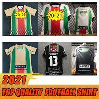 Soccer2020 2021 Filistino Erkek Futbol Formaları Yeni Kulübü Ev Kırmızı Beyaz Uzakta Siyah Futbol Gömlek Kısa Kollu Yetişkin Üniforma Gömlek