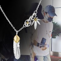 Necklaces Takahashi Goros Jewelry 925 Sterling Pendant Feather Charm Vintage Thai Silver Eagle Chain for Men and Women