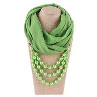 2021 Nueva Llegada Joyas de Joyería Declaración Collar Pearl Colgante Bufanda Mujeres Cuello Foulder Femme Accesorios
