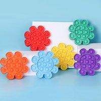Kinder Push Pop Zappel Spielzeug Party Supplies Rainbow Blase Sensory Autismus Sonderanforderungen Stress Reliever Es Senside Sensorys Spielzeug für Kinderfamilie