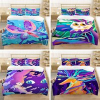 Bedding Sets Fantasy Color Cartoon Animal Printed 3D Set Bedroom Decorative Duvet Cover With Pillowcase 2 3 Single Queen King