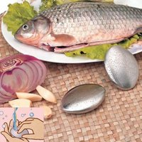 Fleisch Geflügelwerkzeuge Oval Form Edelstahl Seifenmagie Eliminieren Geruch Geruch Reinigungsküchenbar Handkochgeruch Remover Kleine Größe OCG8 RR1N