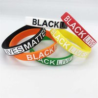 6 farbe schwarz lebt matters armbands silikon armband band armband buchstaben drucken gummi armreifen armband party favorie großhandel jj688
