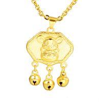 necklace Shajin jewelry mouse pendant gold plated twee zodiac Nelace benmingnian cute little golden Pendant