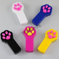 5 Colors LED Light Pointer Paw Style Interactive Toy Pet Accessories Cat Toys Laser Cat Teaser Pet Scratching Training Tool