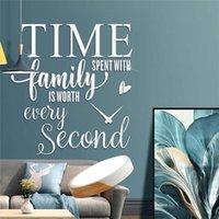 Наклейки на стену Время, проведенное с семьей, стоит каждая вторая цитата акриловые зеркальные наклейки домашнего декора гостиной цитаты