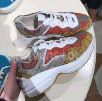 2021 Lüks Tasarımcı Rahat Ayakkabılar Serisi Rhyton Erkek Kadın Bayanlar Sneakers ile Kutusu Boyutu 35-45