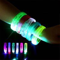 Party Decoration Acrylic LED Flash Bracelet Luminous Wristband Bangle Bar Concert Cheer Props Glow Supplies