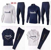 20/21 Leeds Eğitim Takım Elbise Futbol Forması Uzun Kollu Eşofman Futbol 2021 Birleşik Chandal Futbol