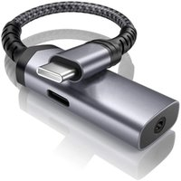 Тип-С Адаптер наушников 2 в 1 Вызов и прослушивание музыки при зарядке с PD 60W Красного серебра 2 цветов Телефонные адаптеры