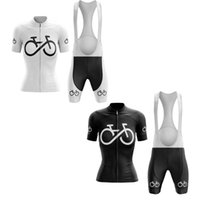 Racing Sets Classic Women's Bicycle Series Black And White Cycling Jersey Set Summer MTB Race Outdoor Sportswear Bike Clothing