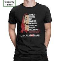 Lacasa de Papel Schauspieler Akteure T-shirt Männer TV-Serie Geld Heid-Haus der Papierkleidung 3XL T-Shirts 100% Baumwolle Crewneck T-Shirt 210420