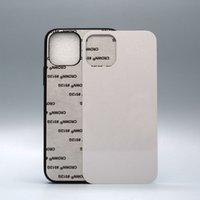 2D резиновый TPU DIY сублимационный чехол для iPhone 13 12 11 Pro Max с алюминиевым металлическим листом клея 50 шт. / Лот